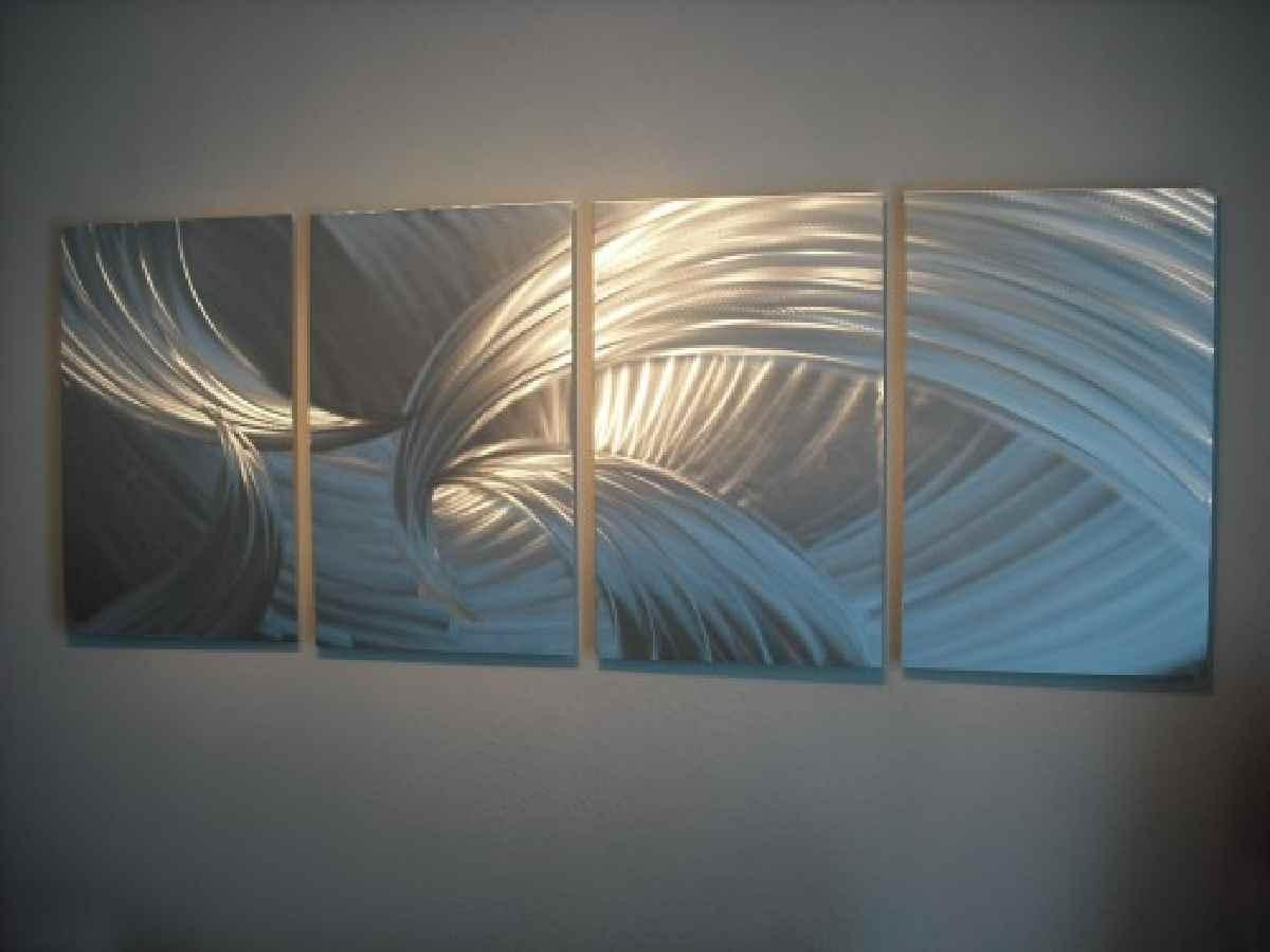 Featured Image of Large Abstract Metal Wall Art