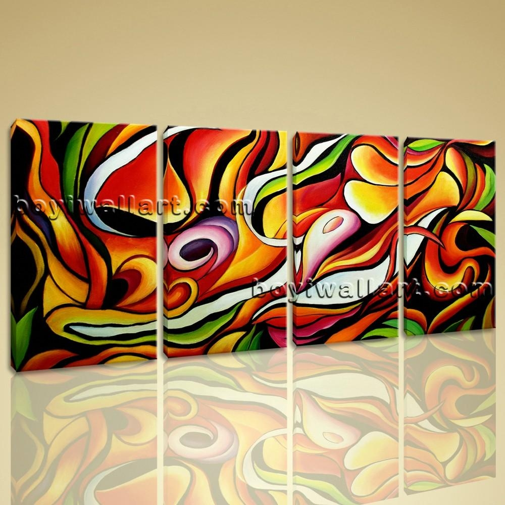 Abstract Paintings On Canvas Colorful Original Giclee Print Inner For Colorful Abstract Wall Art (Image 4 of 20)