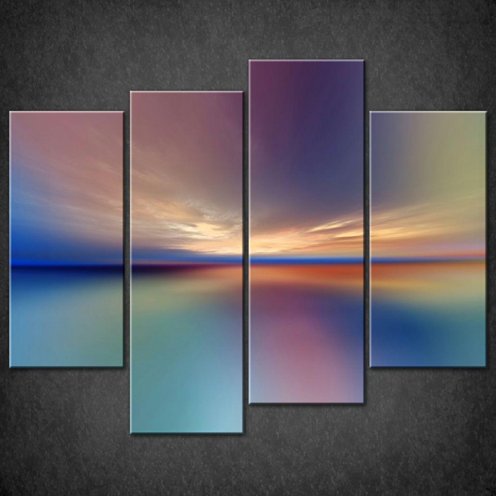 Abstract Sunset Split Canvas Wall Art Pictures Prints Larger Sizes regarding Split Wall Art