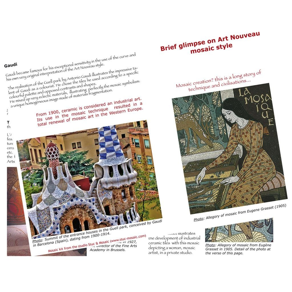 Adult Mosaic Kit: Art Nouveau Mosaic Pattern, Technique, History Intended For Mosaic Art Kits For Adults (Image 6 of 20)