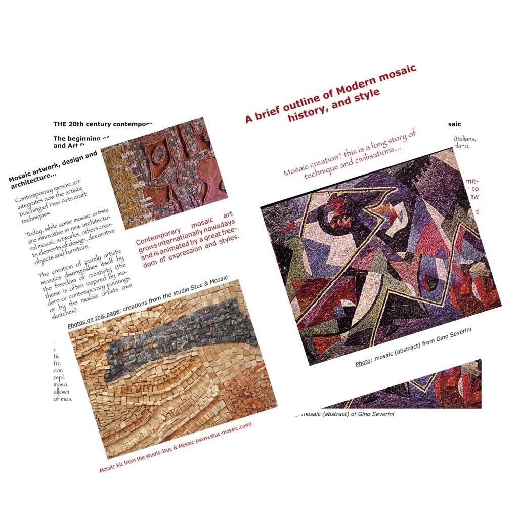 Adult Mosaic Kit Inspiredwassily Kandinsky With Mini Mosaic Throughout Mosaic Art Kits For Adults (View 18 of 20)