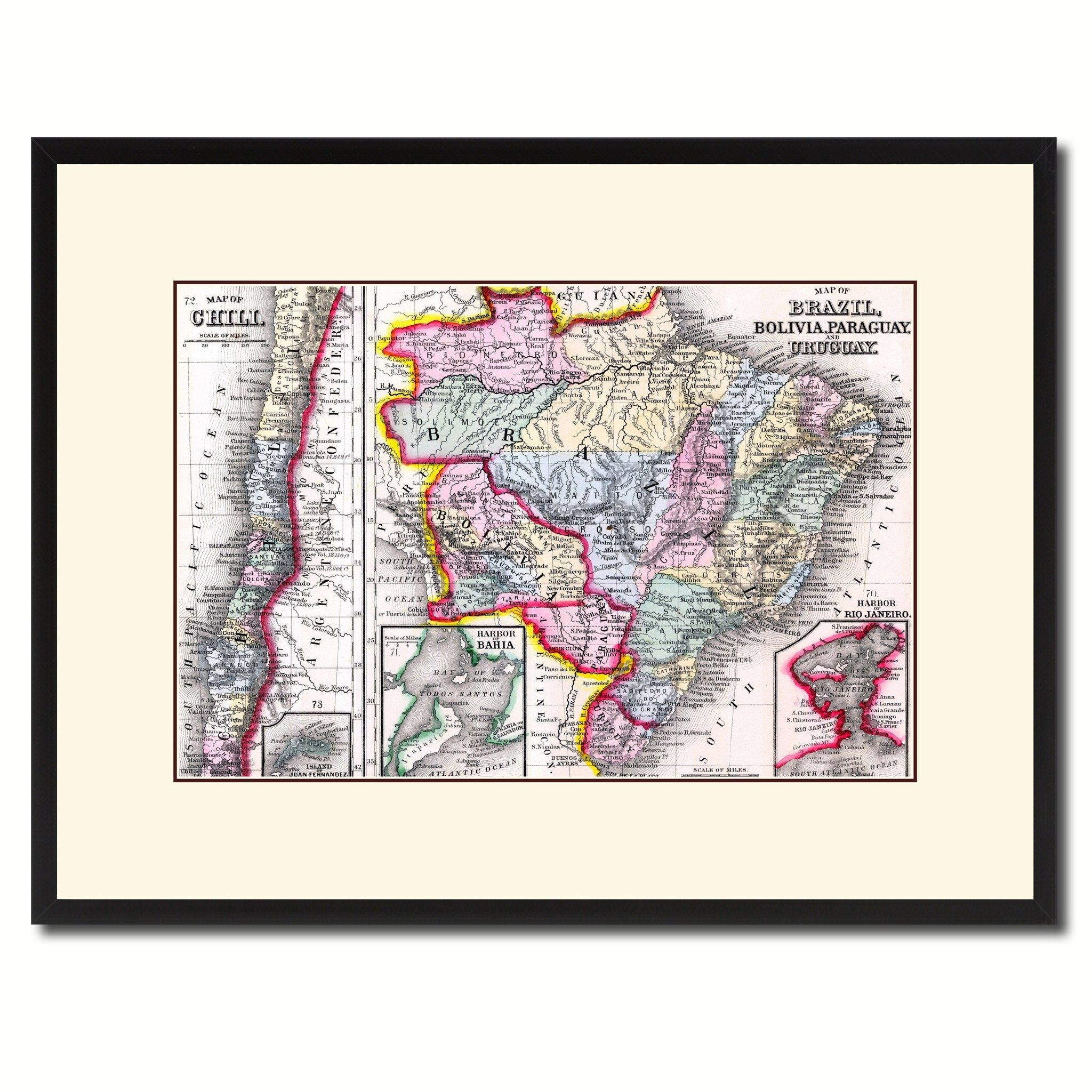 Afghanistan Persia Iraq Iran Vintage Antique Map Wall Art Home Inside Antique Map Wall Art (Image 2 of 20)