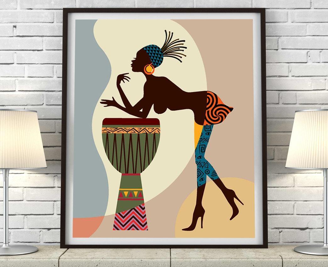 African American Art, African Wall Art Decor, African Woman Throughout African American Wall Art And Decor (View 20 of 20)