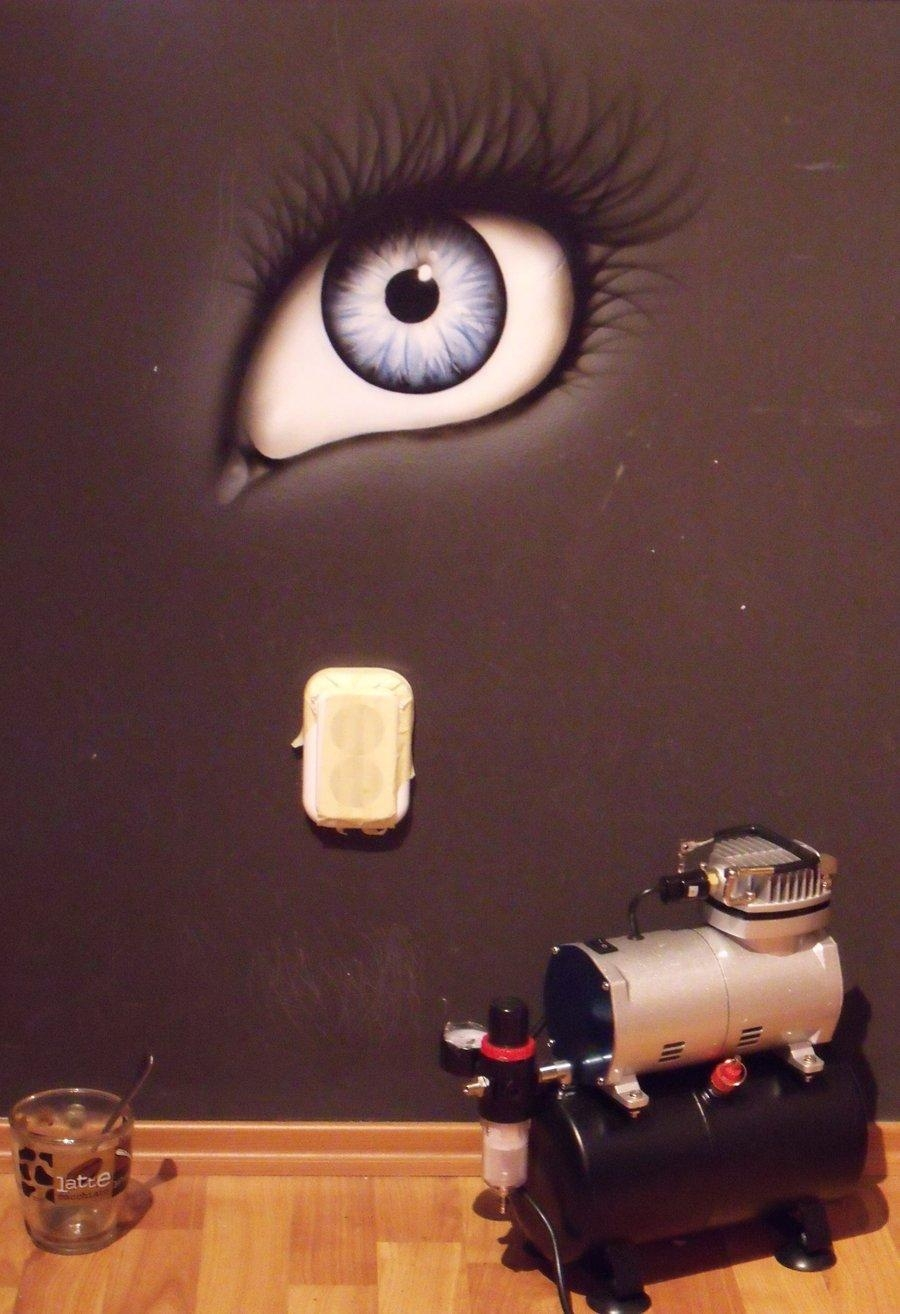 Airbrush On My Walldzsyna96 On Deviantart Pertaining To Airbrush Wall Art (Image 2 of 20)