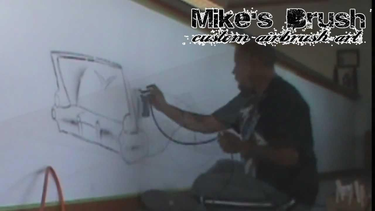 Airbrush Wall Mural – Youtube For Airbrush Wall Art (Image 3 of 20)