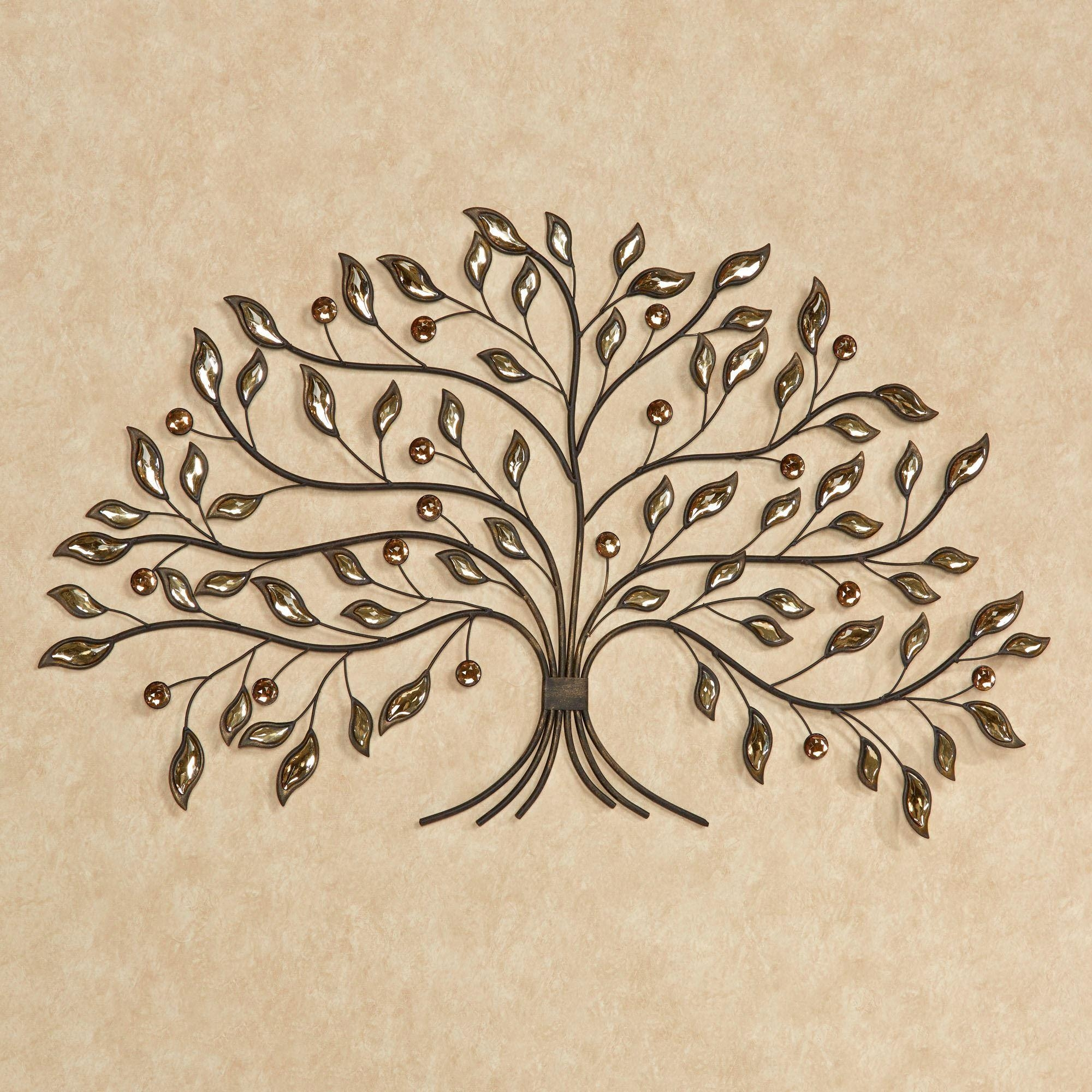 Alexandra Vining Gem Tree Metal Wall Art Regarding Tree Wall Art Sculpture (Image 1 of 20)