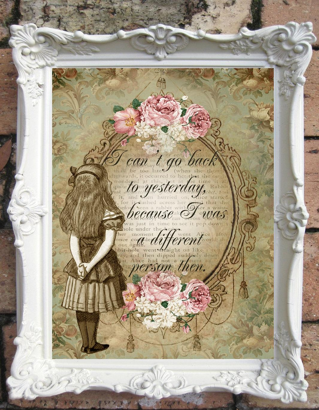 Alice In Wonderland Quote Art Print (Image 1 of 20)