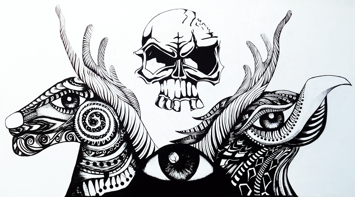 Aliens Tattoo: Wall Art On Student Show With Tattoo Wall Art (View 3 of 20)