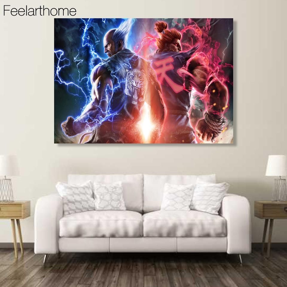 Aliexpress : Buy 1 Piece Canvas Art Canvas Painting Game In 7 Piece Canvas Wall Art (Image 6 of 22)