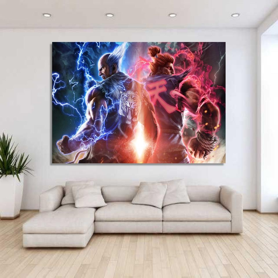 Aliexpress : Buy 1 Piece Canvas Art Canvas Painting Game Inside 7 Piece Canvas Wall Art (Image 7 of 22)