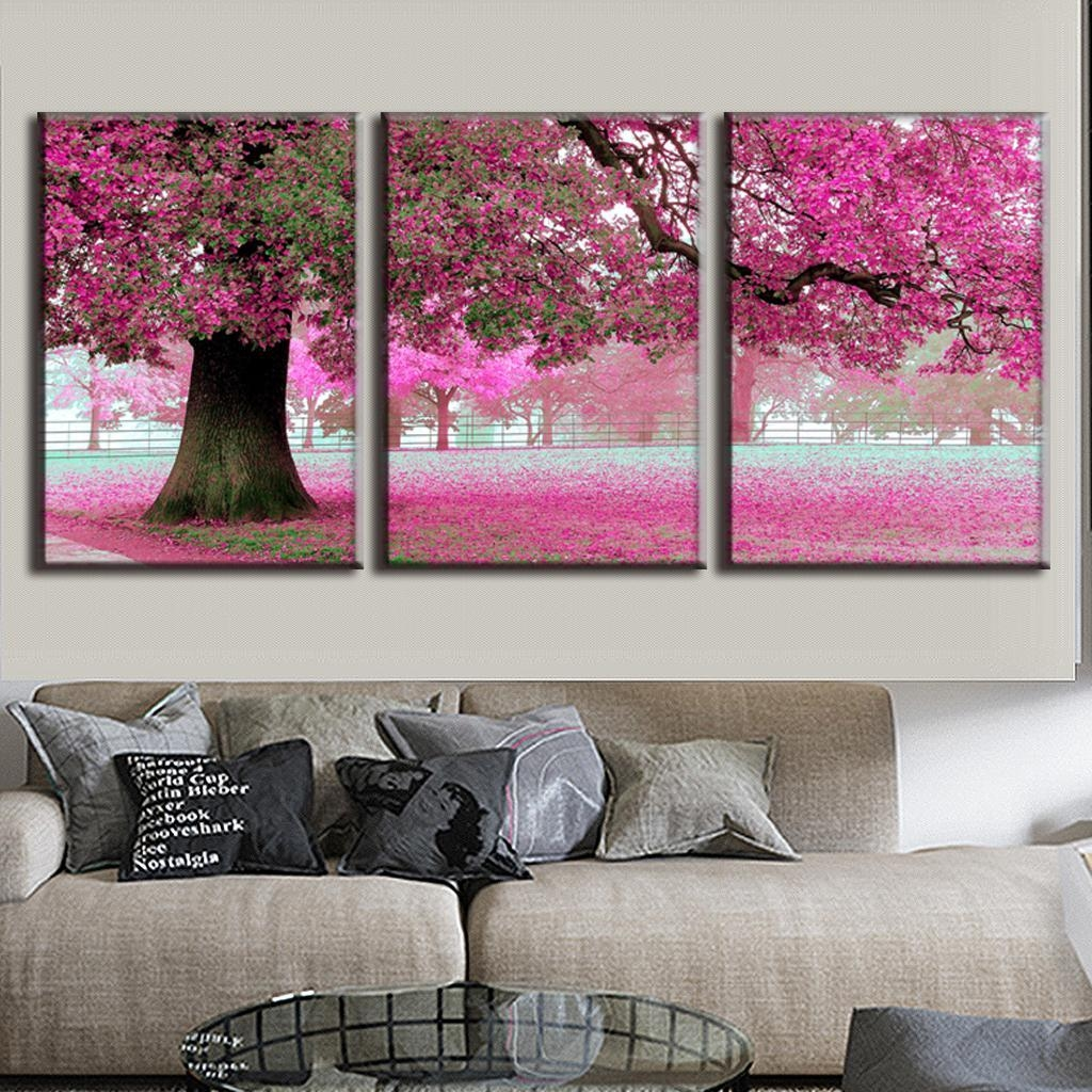 Aliexpress : Buy 3 Pcs/set Discount Framed Paintings Modern With Regard To 3 Set Canvas Wall Art (Image 9 of 20)