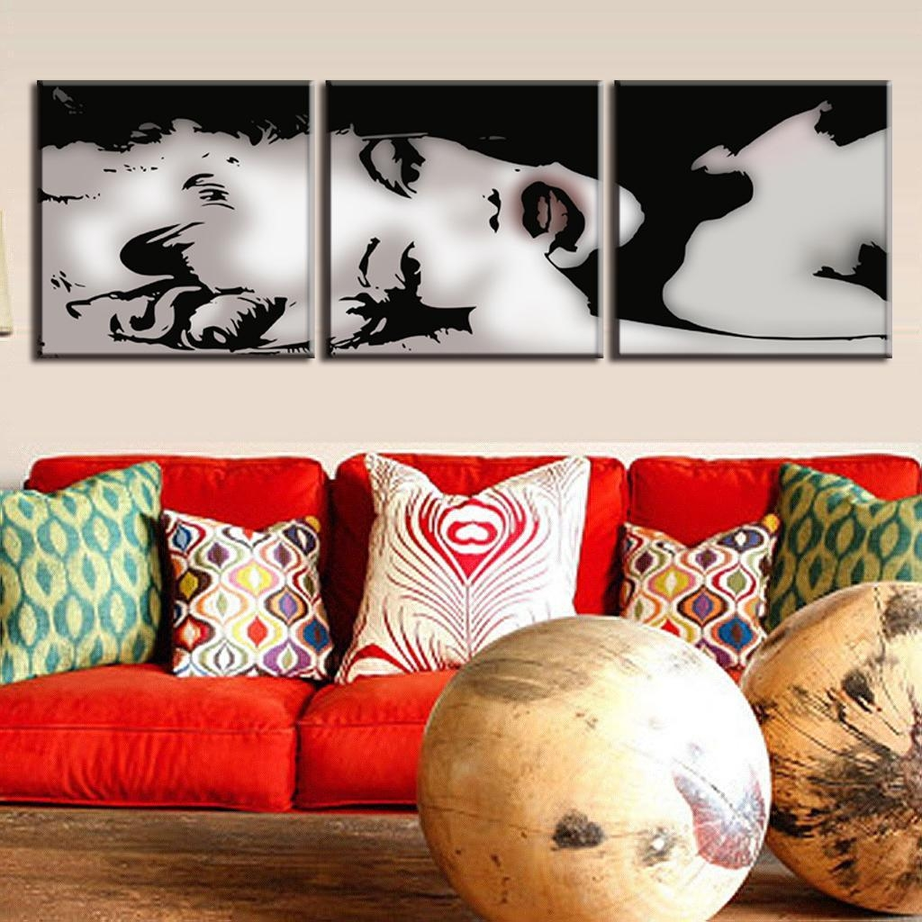 Aliexpress : Buy 3 Pcs/set Vintage Poster Framed Portrait Intended For Marilyn Monroe Framed Wall Art (View 14 of 20)