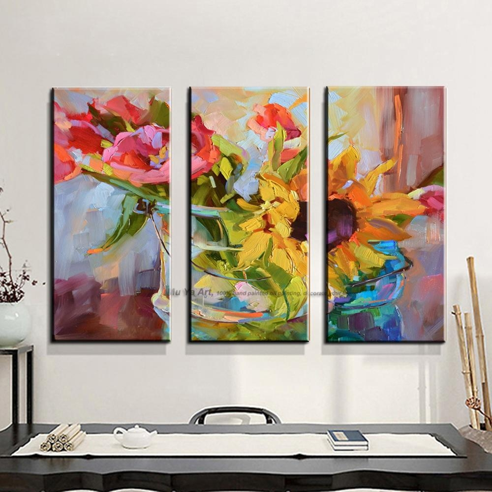 Aliexpress : Buy 3 Piece Abstract Modern Canvas Wall Art Within 3 Piece Abstract Wall Art (Image 4 of 20)