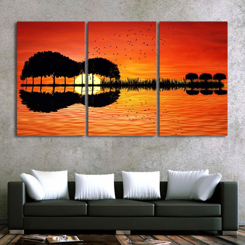 Aliexpress : Buy 3 Piece Canvas Wall Art Hd Printed Guitar Inside Guitar Canvas Wall Art (View 4 of 20)