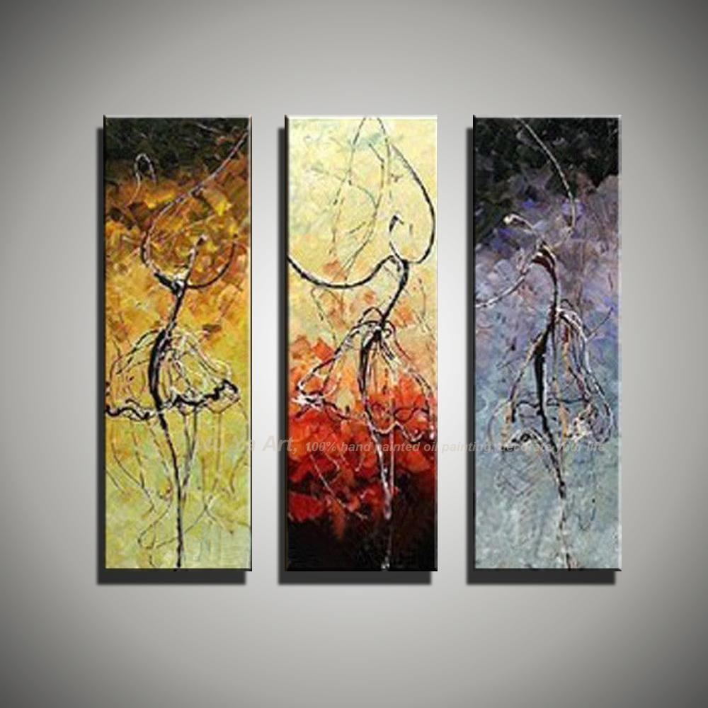 Aliexpress : Buy 3 Piece Wall Art Art Paintings Ballerina Inside 3 Piece Abstract Wall Art (Image 6 of 20)