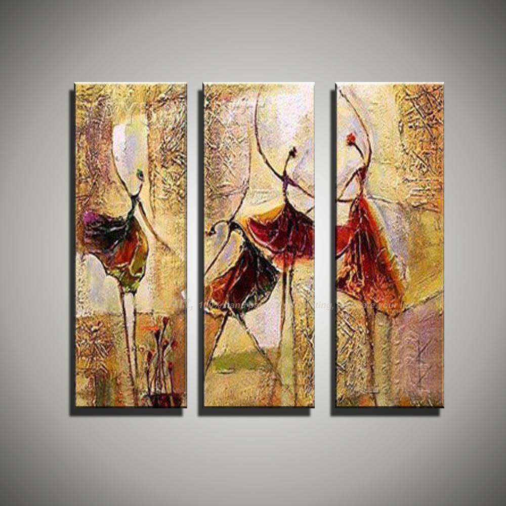 Aliexpress : Buy 3 Piece Wall Art Art Paintings Ballerina Pertaining To 3 Piece Wall Art (Image 10 of 20)