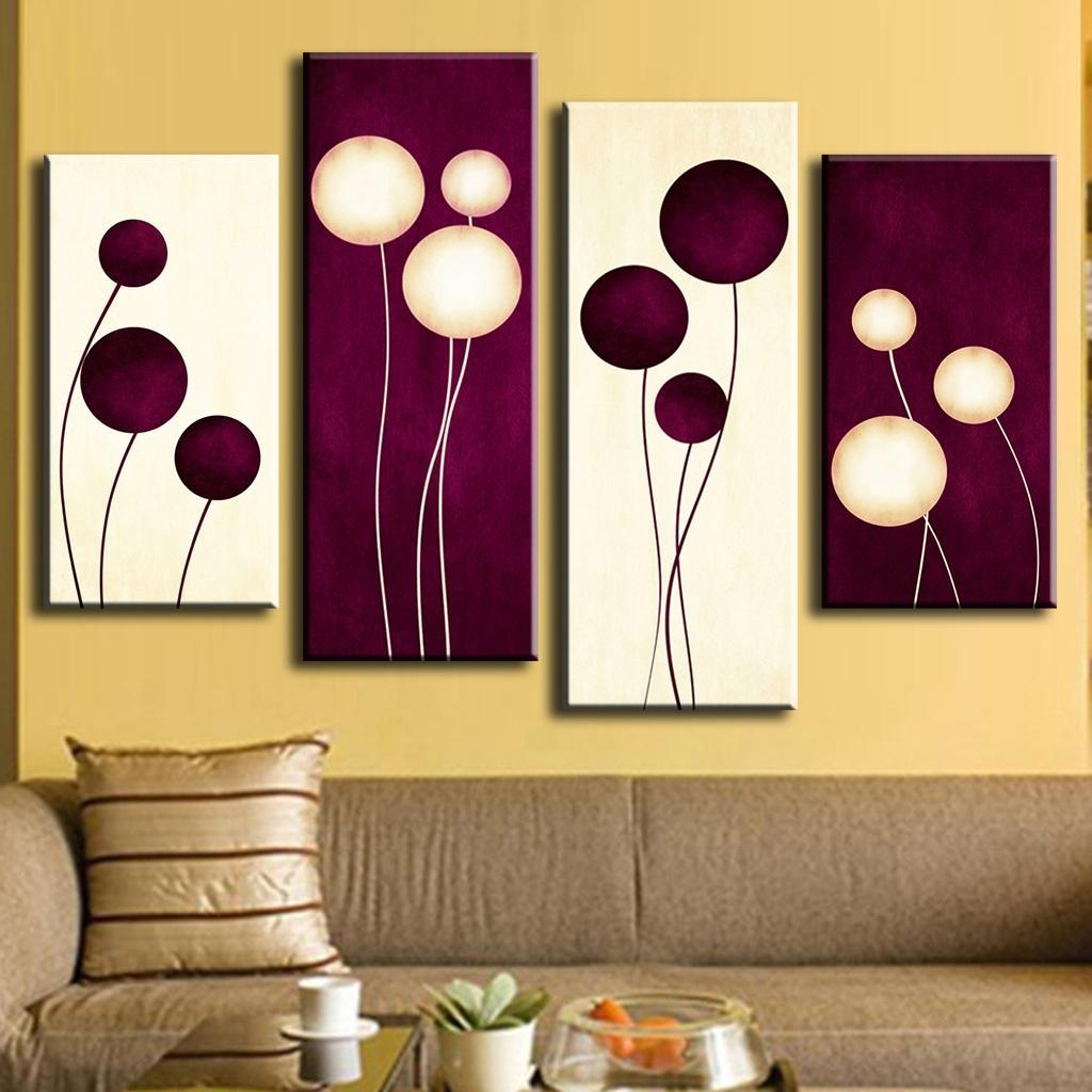 Aliexpress : Buy 4 Pcs/set Abstract Puple Ballon Flower For Plum Wall Art (View 8 of 20)