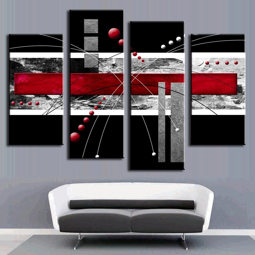 Aliexpress : Buy 4 Pcs/set Abstract Wall Art Painting Modern Inside Colorful Abstract Wall Art (View 12 of 20)