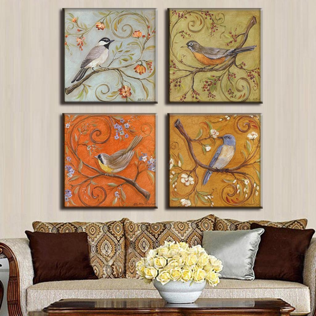 Aliexpress : Buy 4 Pcs/set Traditional Chinese Modern Wall Intended For Chinoiserie Wall Art (Image 6 of 20)