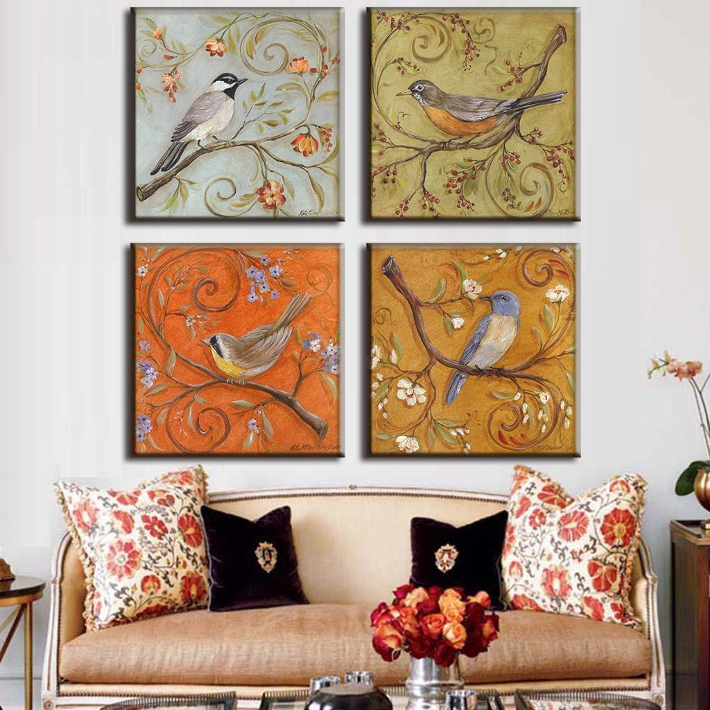Aliexpress : Buy 4 Pcs/set Traditional Chinese Modern Wall Regarding Chinoiserie Wall Art (View 12 of 20)