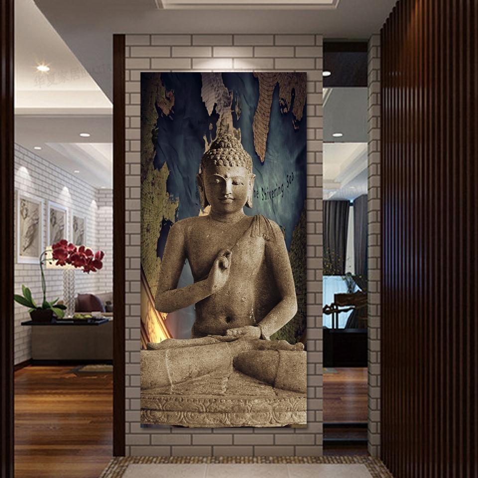 Aliexpress : Buy Atfipan Hot Sale Modular Pictures 1Pcs Buddha For Large Buddha Wall Art (Image 1 of 20)