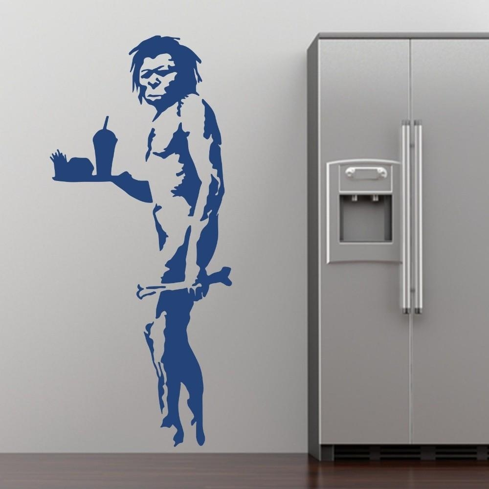 Aliexpress : Buy Banksy Fast Food Caveman Graffiti Wall Art Pertaining To Graffiti Wall Art Stickers (Image 1 of 20)