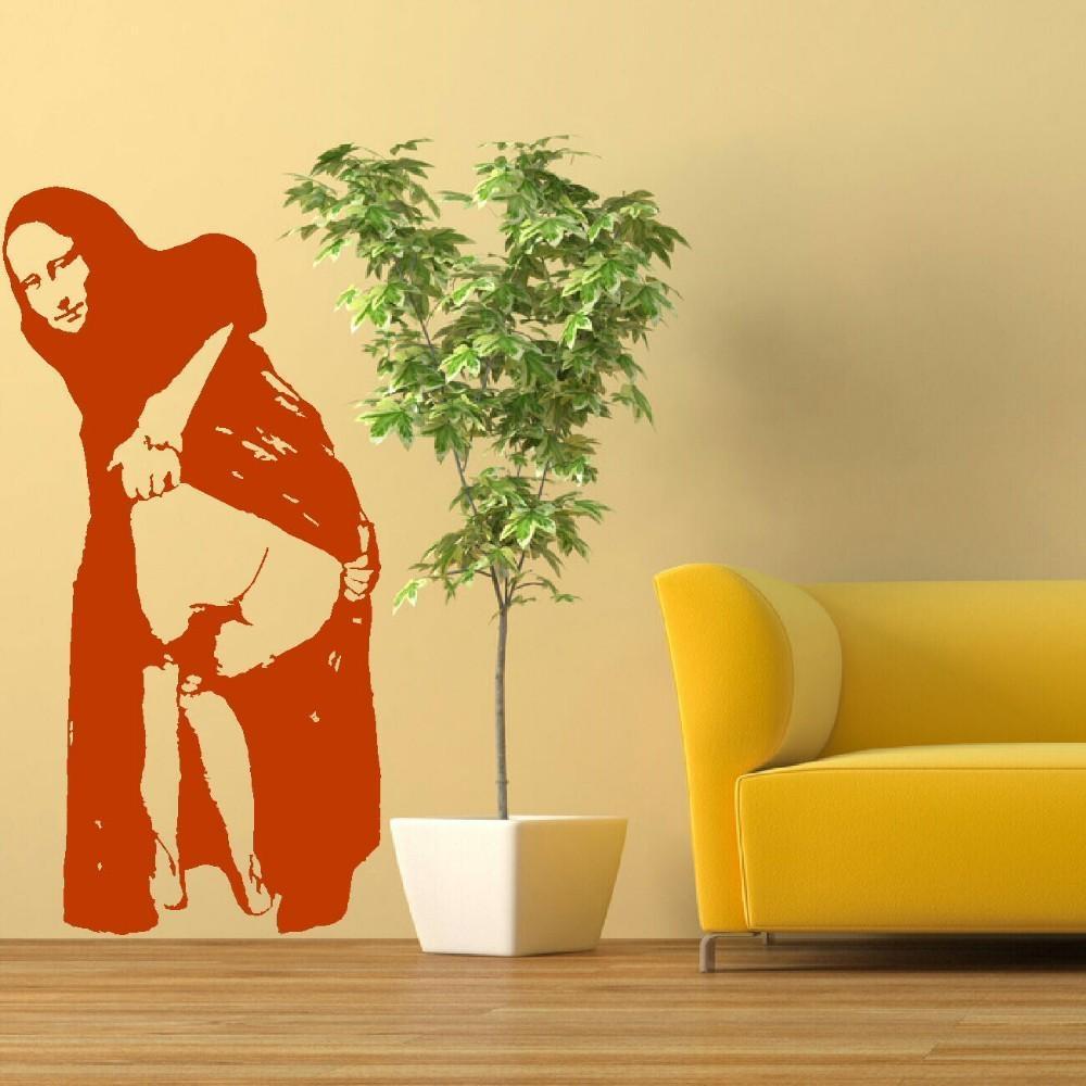 Aliexpress : Buy Banksy Mona Lisa Mooning Wall Mural Transfer With Graffiti Wall Art Stickers (Image 2 of 20)