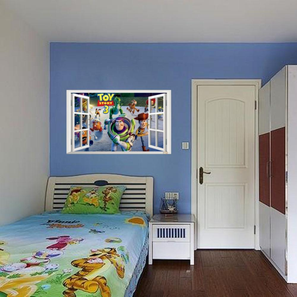 Aliexpress : Buy Best Selling Toy Story 3 Cartoon 3D Window In Toy Story Wall Stickers (Image 5 of 20)