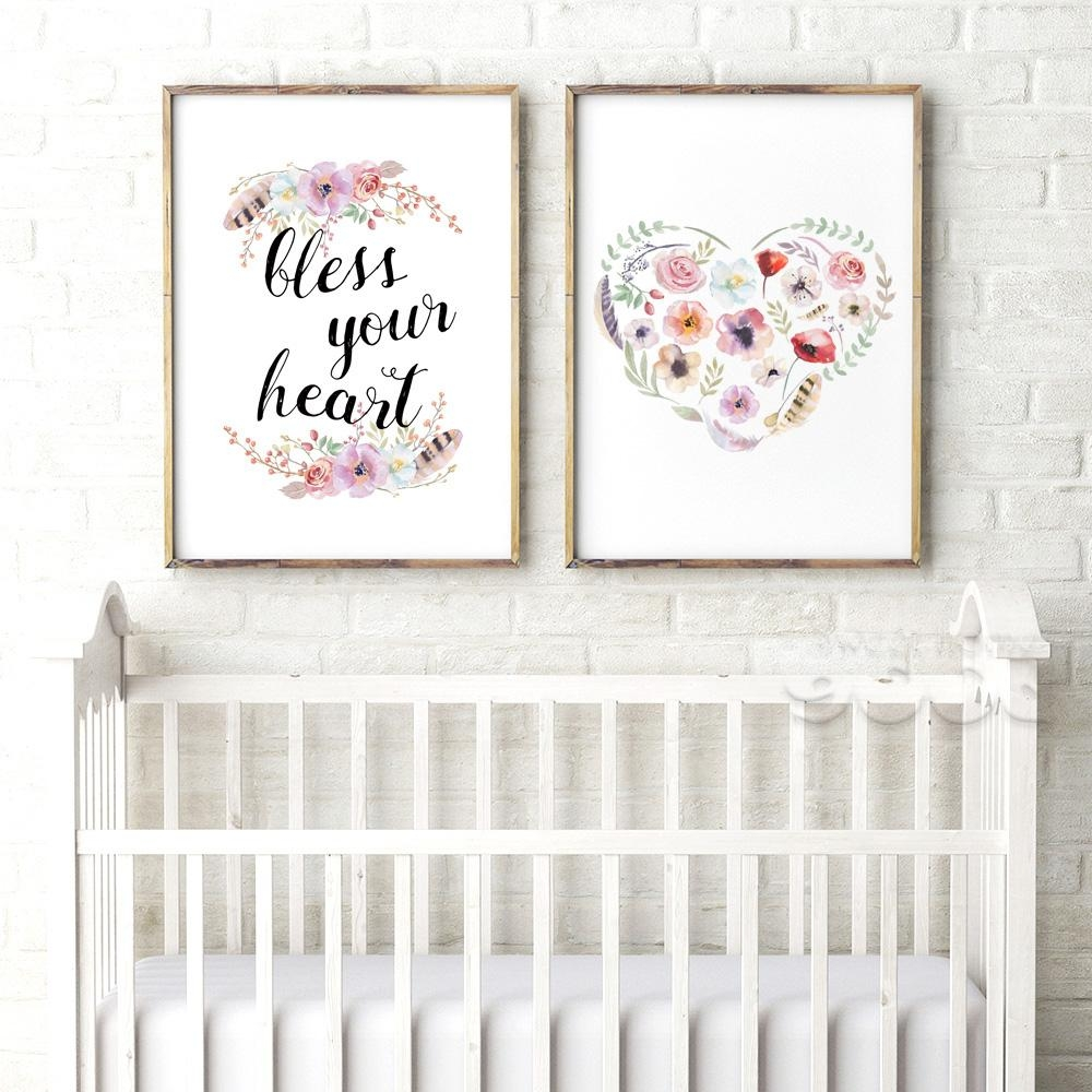 Aliexpress : Buy Bible Verse Canvas Art Print Poster, Wall Intended For Nursery Canvas Art (Image 1 of 20)
