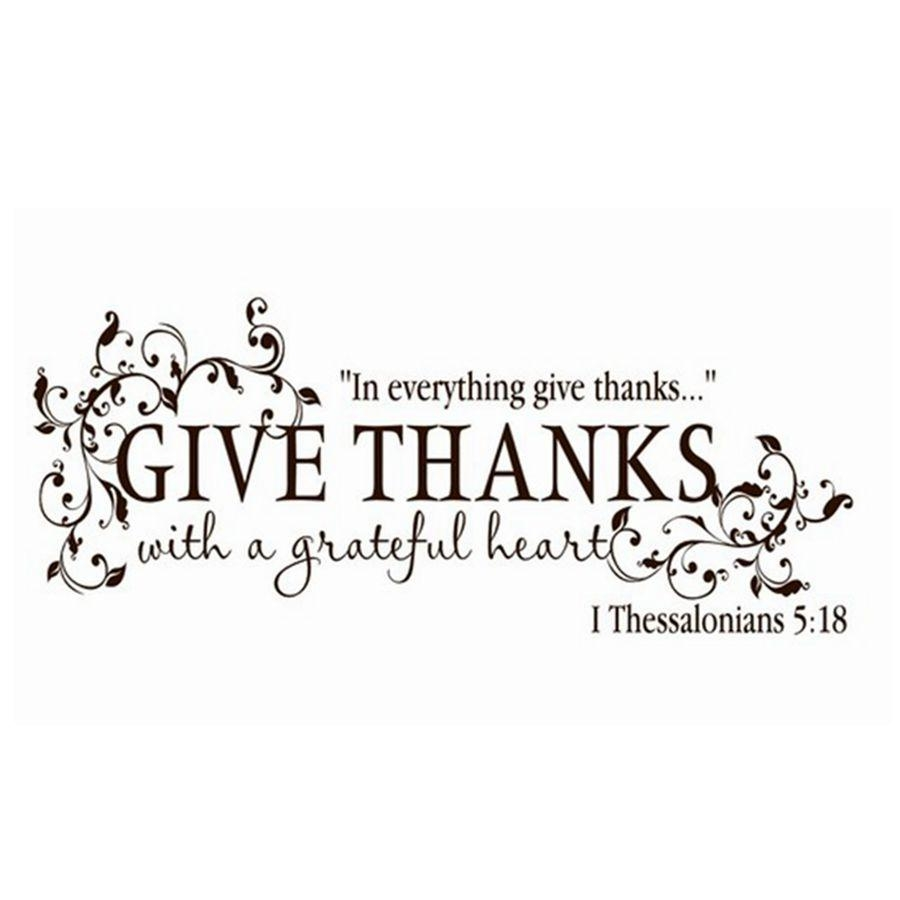 Aliexpress : Buy Bible Verse Give Thanks With A Grateful Heart Within Bible Verses Wall Art (Image 2 of 20)