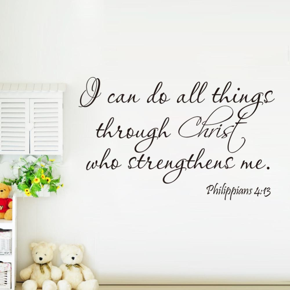 Aliexpress : Buy Christ Strengthens Me Bible Quotes Wall Pertaining To Bible Verses Wall Art (Image 3 of 20)