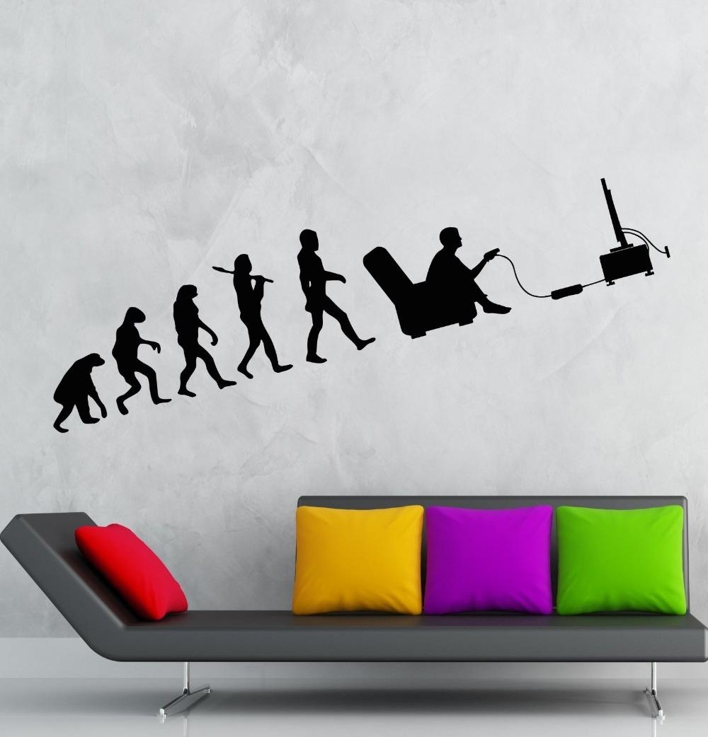 Aliexpress : Buy Computer Boys Vinyl Wall Decal Gamer Throughout Computer Wall Art (Image 2 of 20)