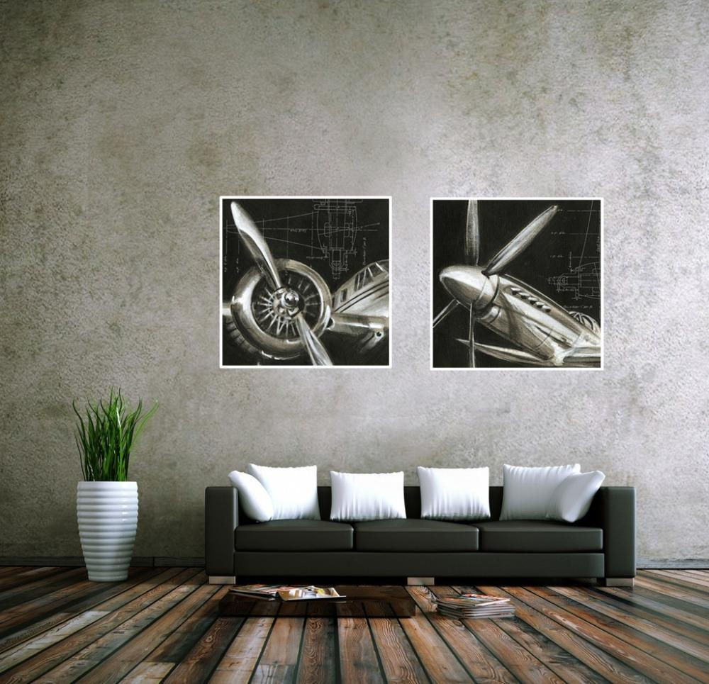 Aliexpress : Buy Cuadros Decoracion Vintage Airplane Paintings Regarding Cheap Abstract Wall Art (View 6 of 20)