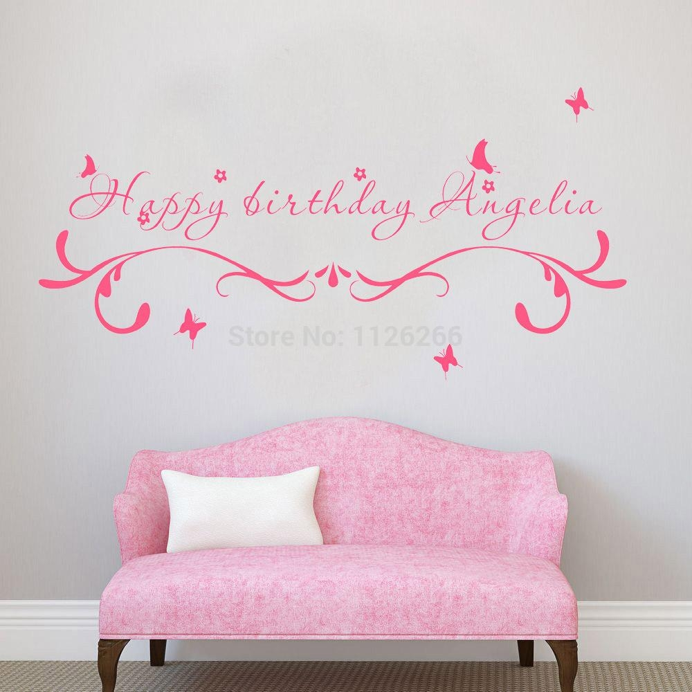Aliexpress : Buy Custom Made Happy Birthday Creative Wall With Happy Birthday Wall Art (Image 3 of 20)