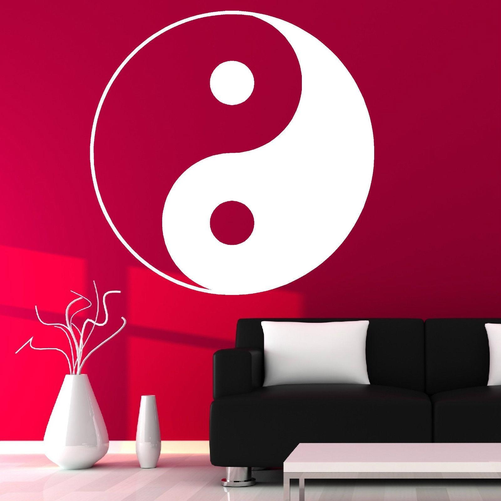 Aliexpress : Buy D189 Yin Yang Symbol Ying Yang Wall Art Room Inside Chinese Symbol Wall Art (Image 1 of 20)