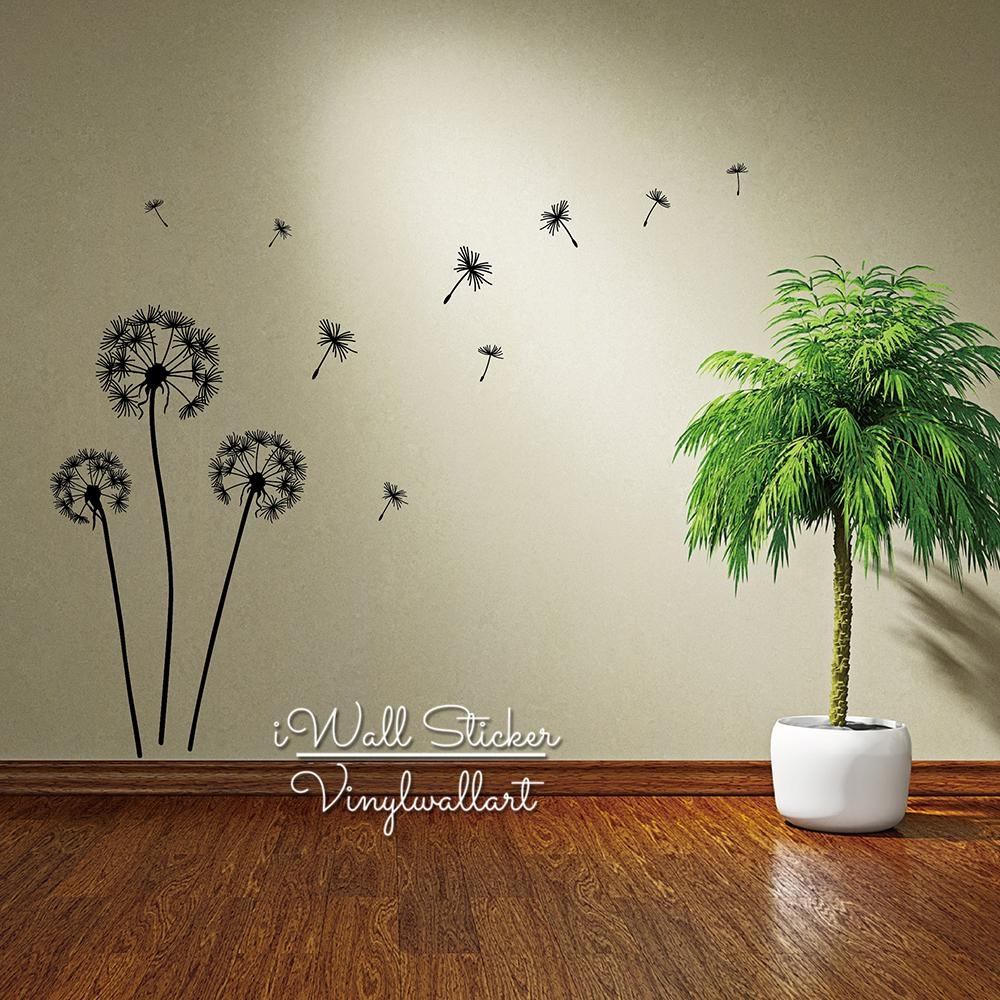 Aliexpress : Buy Dandelion Wall Sticker Dandelion Flower Wall For Modern Vinyl Wall Art (Image 2 of 20)