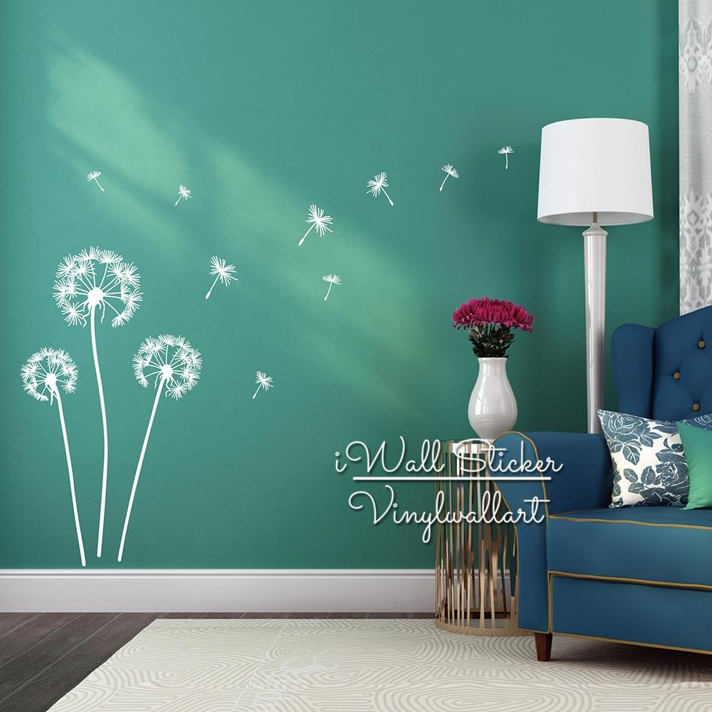 Aliexpress : Buy Dandelion Wall Sticker Dandelion Flower Wall Inside Modern Vinyl Wall Art (Image 3 of 20)