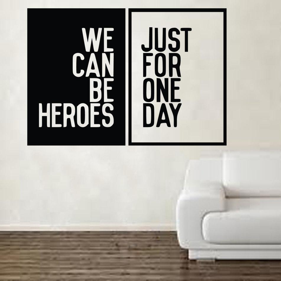 Aliexpress : Buy David Bowie Heroes Song Music Lyrics Wall For Music Lyrics Wall Art (View 3 of 20)