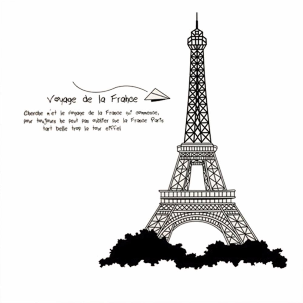 Aliexpress : Buy Eiffel Tower Design Wall Stickers Mural Wall For Paris Themed Stickers (View 13 of 20)