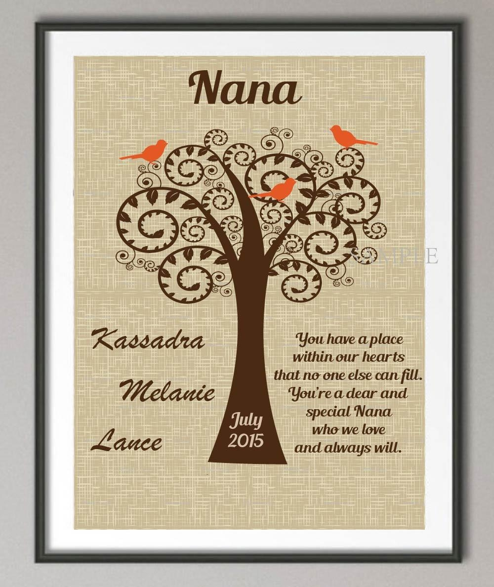 Aliexpress : Buy Ersonalized Grandma Birthday Gifts Family For Personalized Family Wall Art (Image 2 of 20)