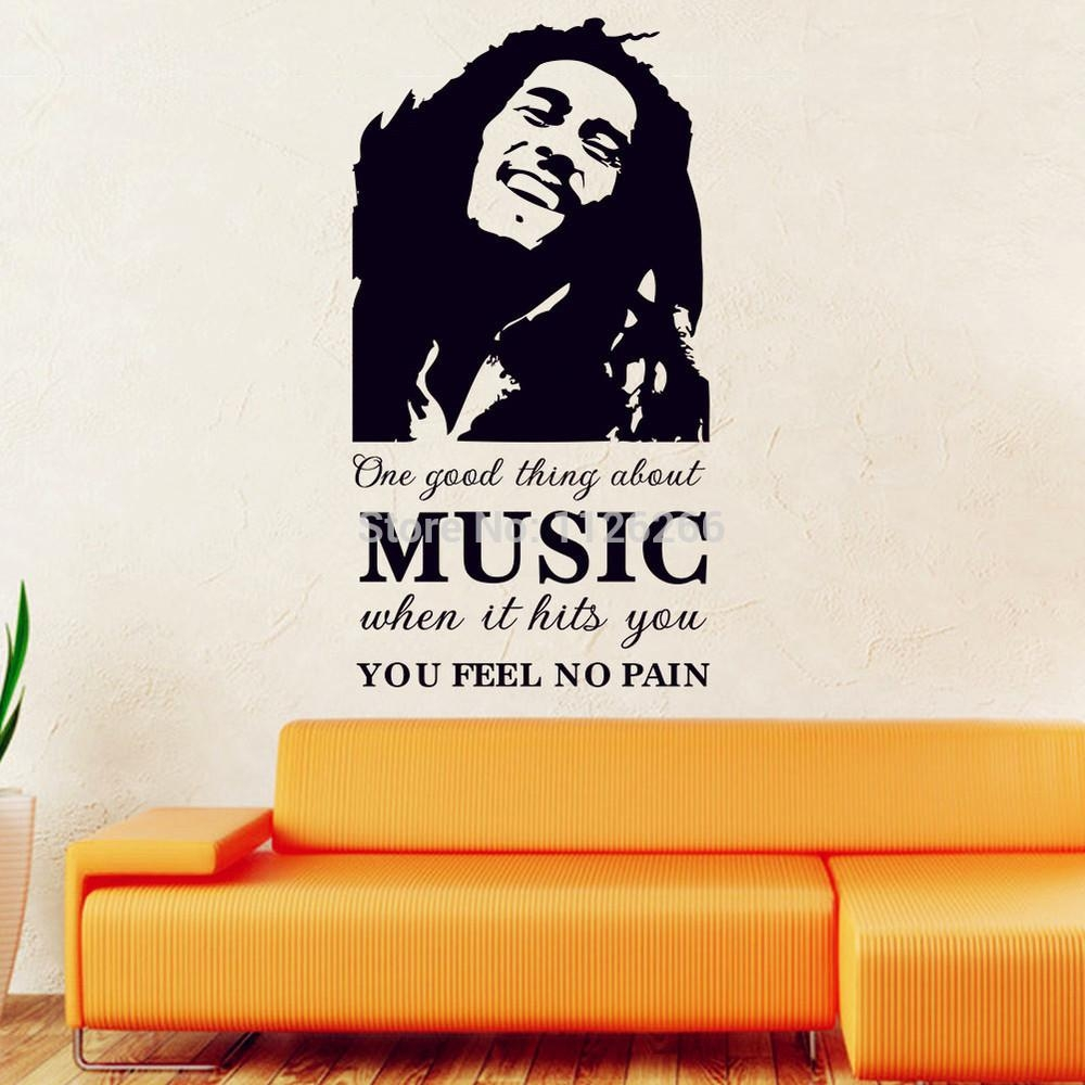 Aliexpress : Buy Famous Pop Stars Bob Marley Art Decal Wall Pertaining To Bob Marley Wall Art (Image 1 of 20)