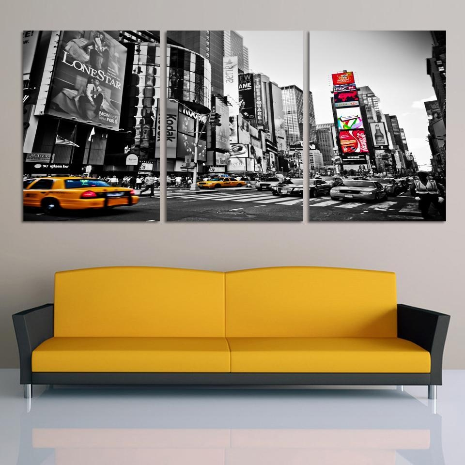 Aliexpress : Buy Fashion Home Decor Canvas 3 Piece Wall Art Inside 3 Piece Modern Wall Art (View 8 of 20)