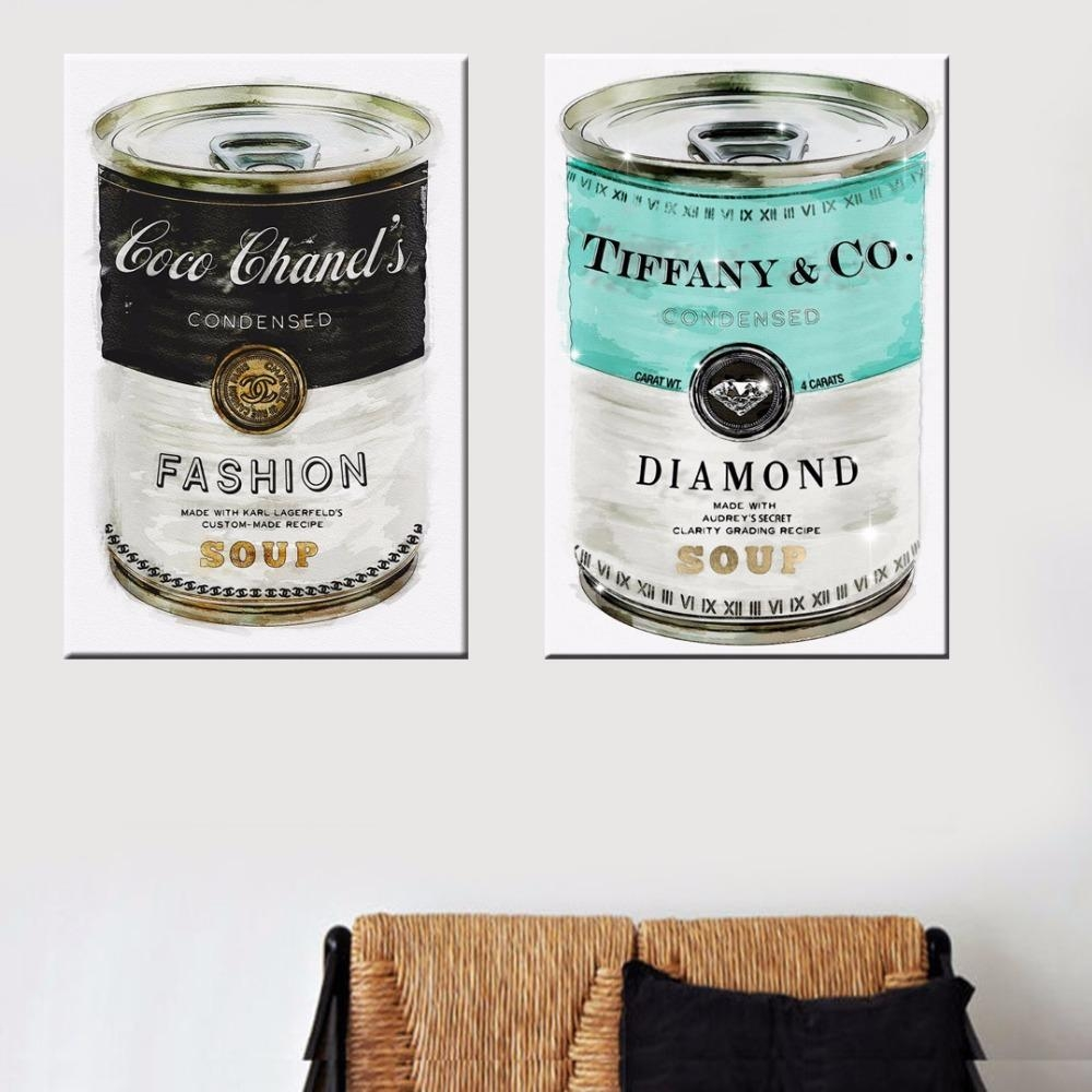 Aliexpress : Buy Fashion Soup Canvas Artoliver Gal Printed Intended For Tiffany And Co Wall Art (View 17 of 20)