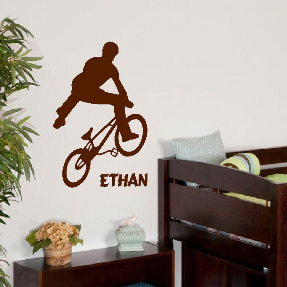 Aliexpress : Buy Free Shipping Large Personalised Bmx Trick With Regard To Teenage Wall Art (Image 2 of 20)