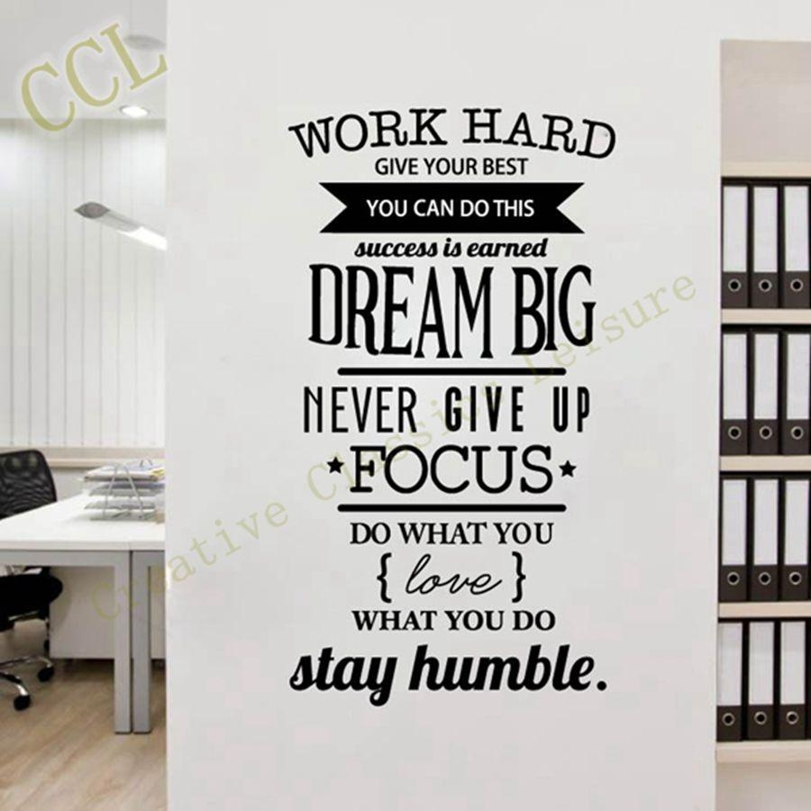 Aliexpress : Buy Free Shipping Motivation Wall Decals Office Regarding Inspirational Wall Decals For Office (View 5 of 20)