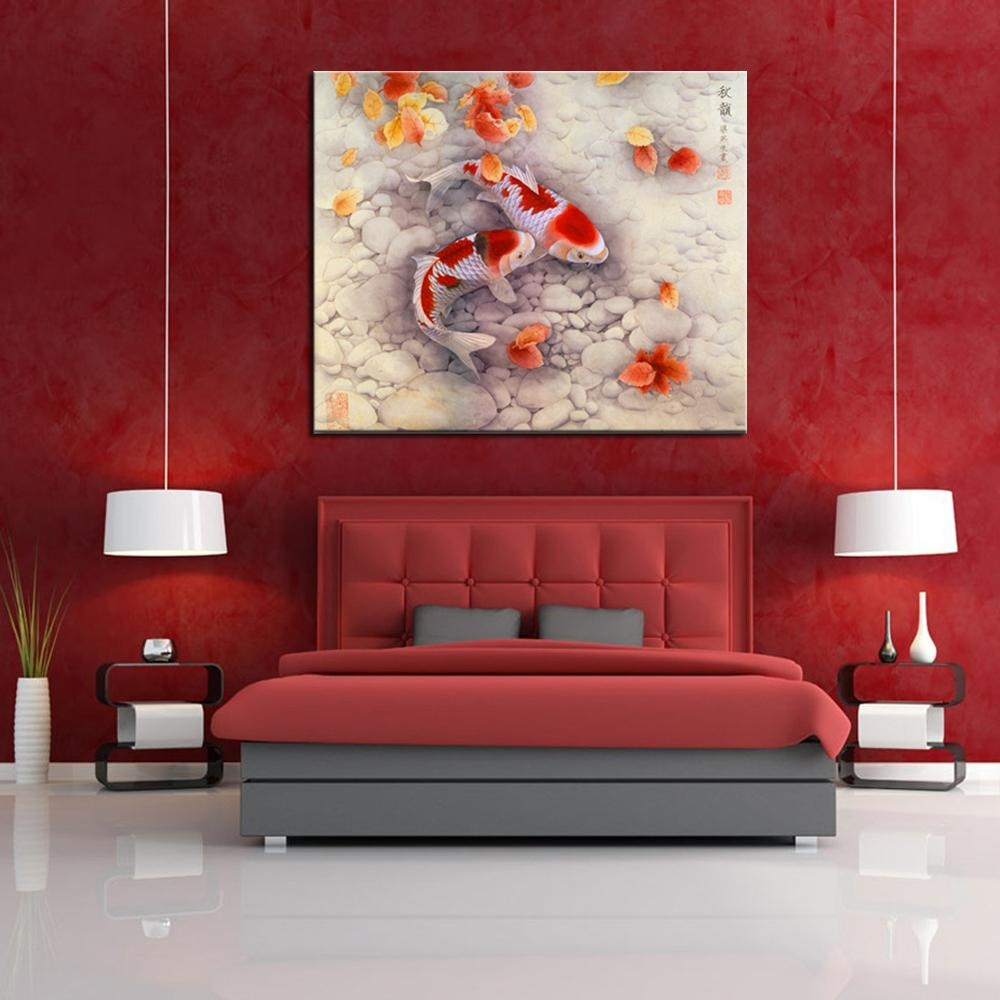 Aliexpress : Buy Good Symbol Of Future Carp Traditional In Chinese Symbol Wall Art (Image 2 of 20)