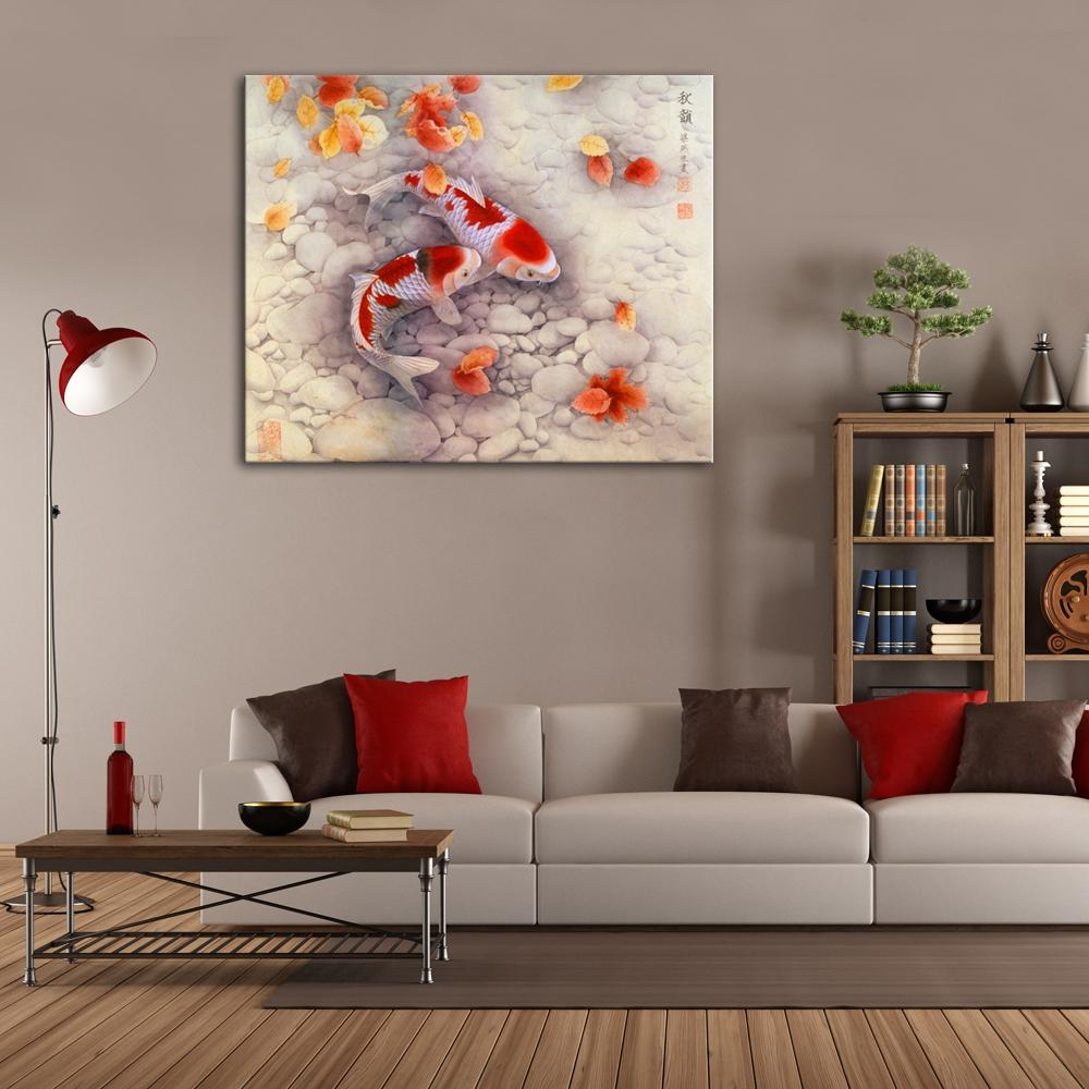 Aliexpress : Buy Good Symbol Of Future Carp Traditional Within Chinese Symbol Wall Art (View 19 of 20)