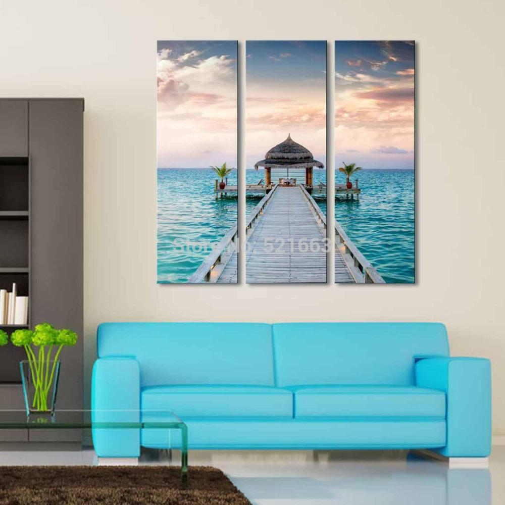 Aliexpress : Buy Hd Landscape Canvas Art Print Painting Poster In Beach Cottage Wall Art (View 14 of 20)
