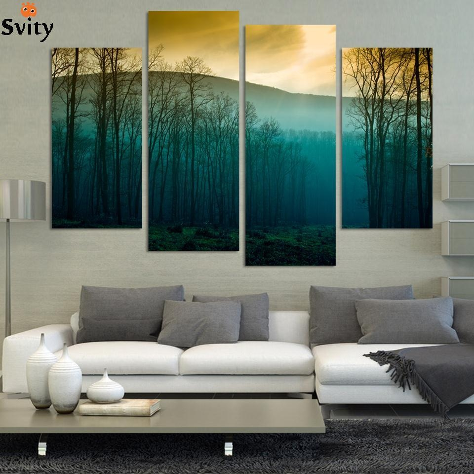 Aliexpress : Buy Hot Sale! Modern Abstract Huge Wall Art Throughout Huge Wall Art (View 4 of 20)