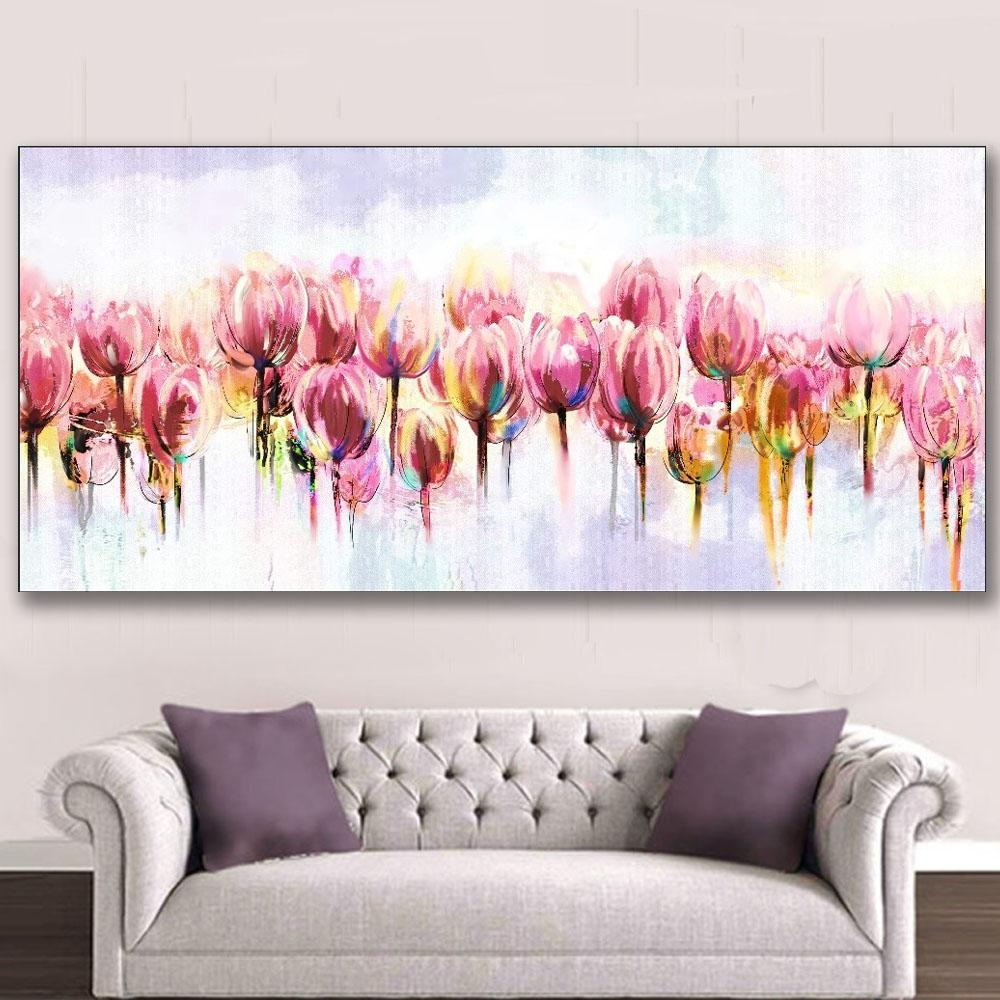 Aliexpress : Buy Iarts Wall Art Canvas Watercolor Paintings Within Floral Wall Art Canvas (Image 1 of 20)